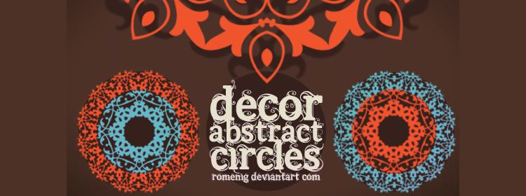 Cool Decorative Abstract Circles Brushes