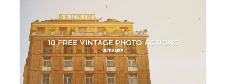 10 Vintage Photography Actions
