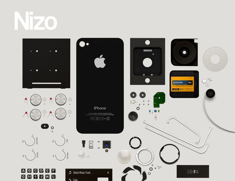the homepage of Nizo for iPhone is fantastic example of a launching soon webpage