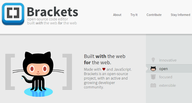 Brackets by Adobe: An Open Source Code Editor in the Making