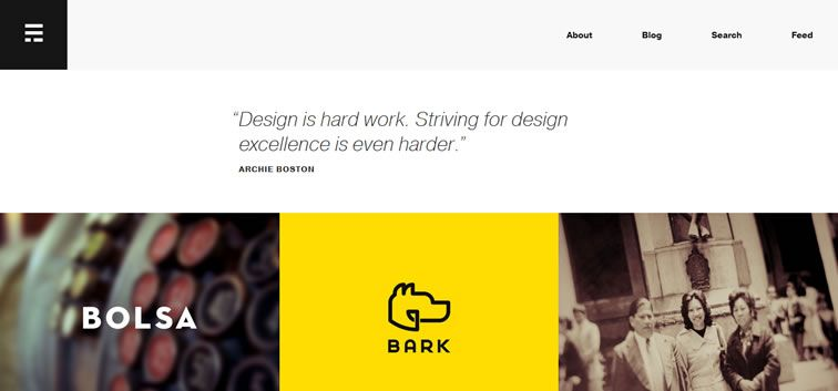example creative portfolio of designer  Erik Ford