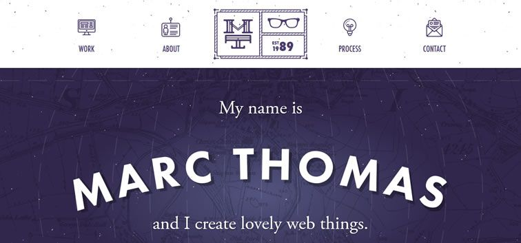 The web design inspiration portfolio of Marc Thomas