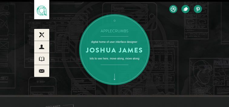 example creative portfolio of designer  Joshua James