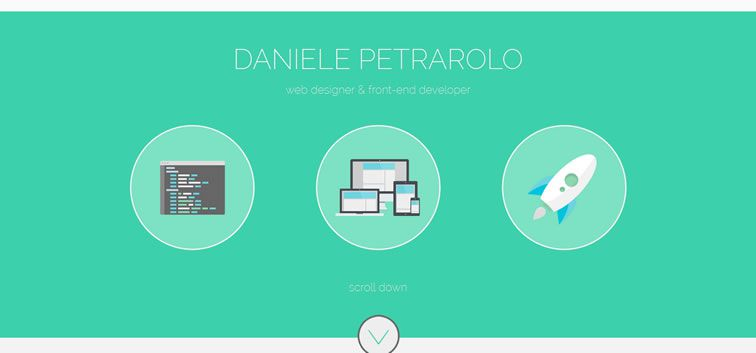 The web design inspiration portfolio of Daniele Petrarolo