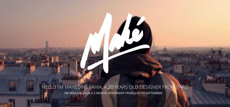 example creative portfolio of designer  Mahédine Yahia