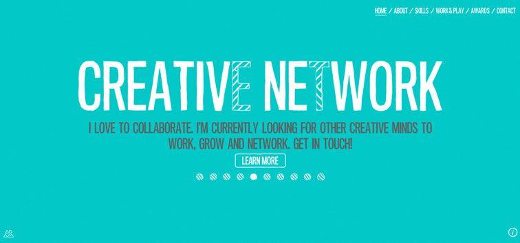 example creative portfolio of designer  Adam Hartwig