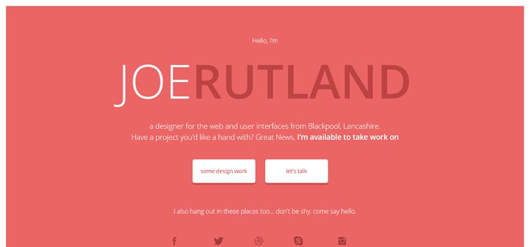 The web design inspiration portfolio of Jrutland