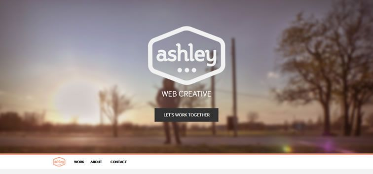 The web design inspiration portfolio of Ashley Farrand
