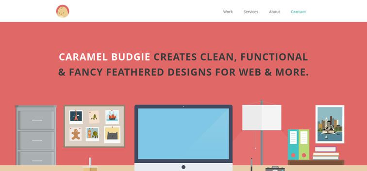 The web design inspiration portfolio of Caramel Budgie
