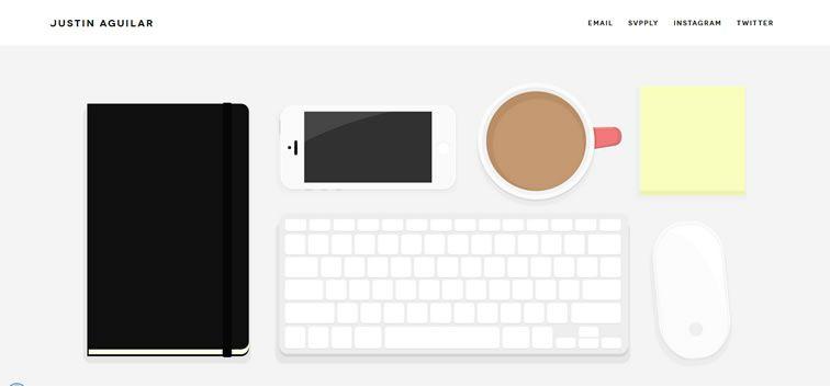 example creative portfolio of designer  Justin Aguilar