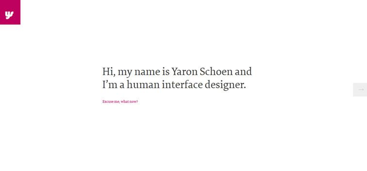 The web design inspiration portfolio of Yaron Schoen