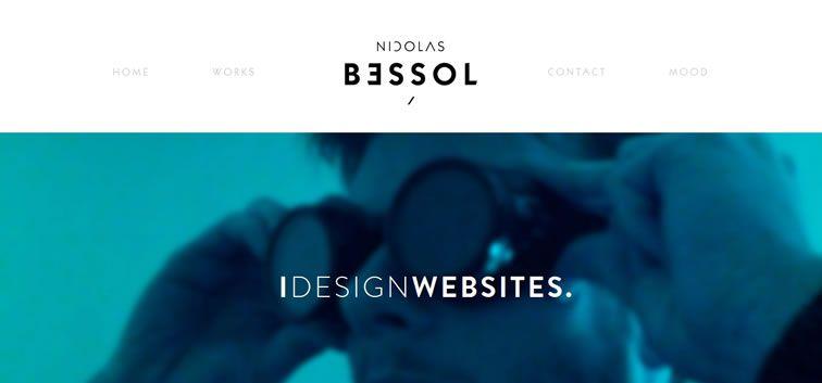 example creative portfolio of designer  Nicolas Bessol