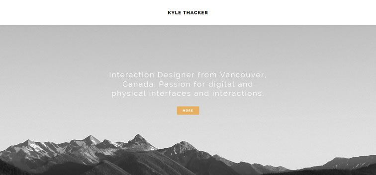 The web design inspiration portfolio of Kyle Thacker