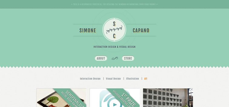 the web design inspiration portfolio of simone capano - Design Portfolio Ideas