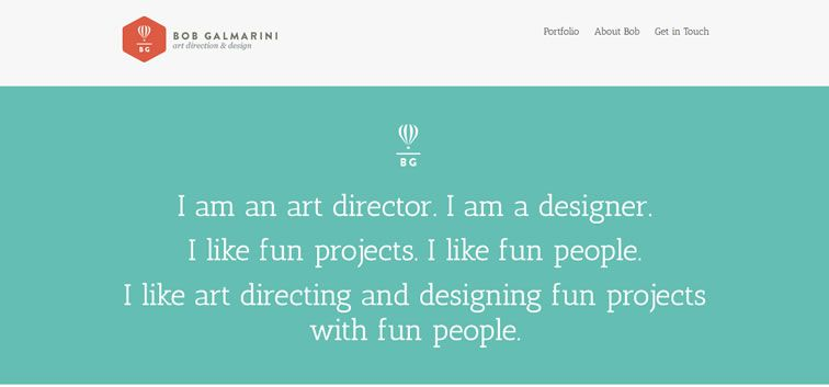 The web design inspiration portfolio of Bob Galmarini