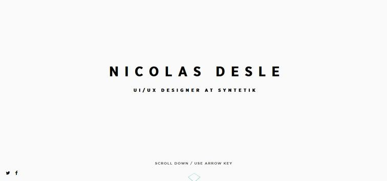 The web design inspiration portfolio of Nicolas Desle