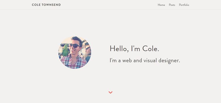 The web design inspiration portfolio of Cole Townsend