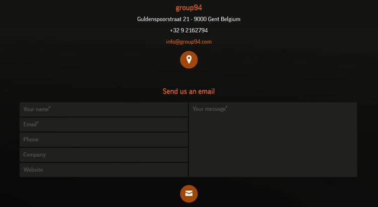 the original design Dark Minimal Contact Form from group94