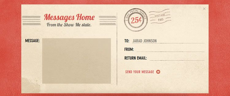 the original design Textured Contact Form from Jarad Johnson