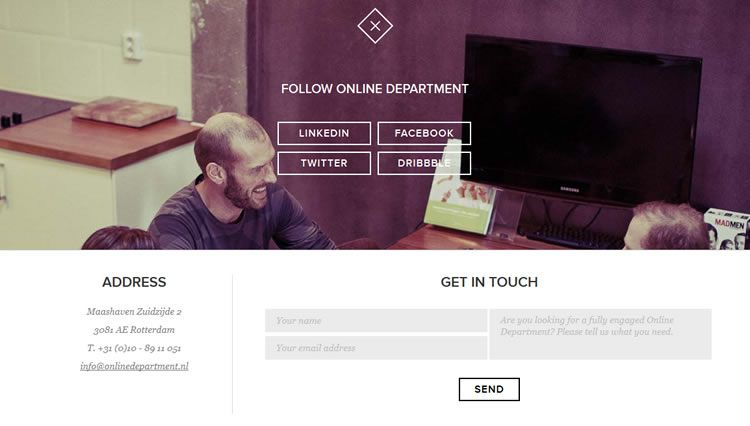 the inspirationally designed Drop In Contact Form from Online Department