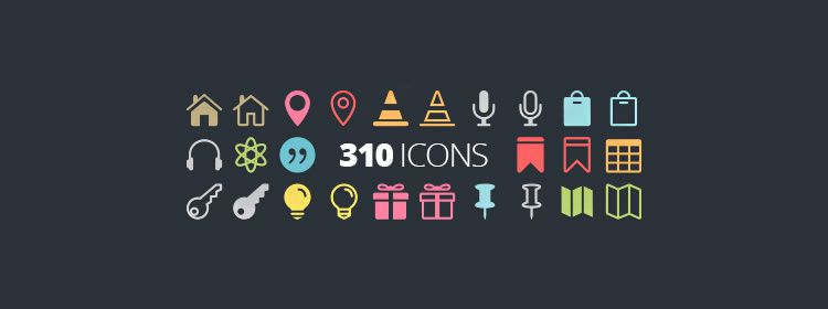 Elegant Icon Fonts free 310 Icons in Web Font Format