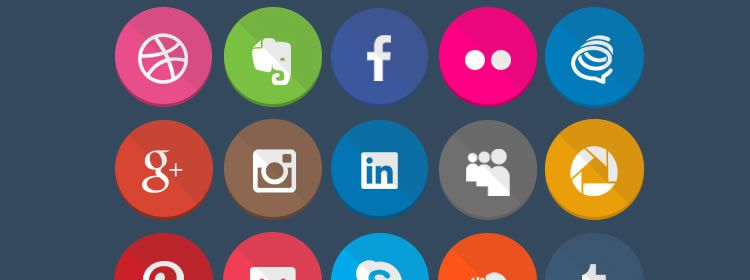 Geekly Flat Icons free 40 Icons in PSD & PNG Formats Best Free Icon Sets