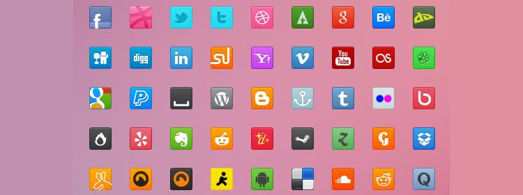 Sweet Social Icons free 70 Icons in PSD, AI & EPS Formats Best Icon Sets