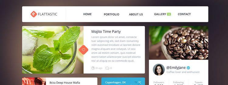 Flattastic UI Kit free PSD Format