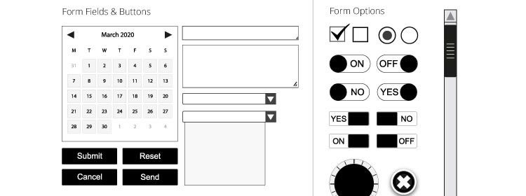 Vector Wireframing Kit and Symbol Library free AI Format