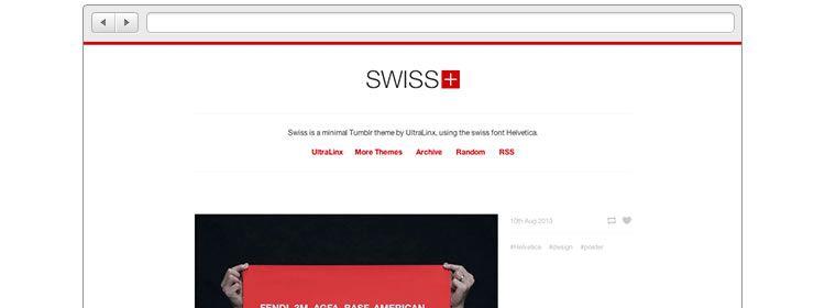Swiss - Minimal Helvetic free Tumblr Theme