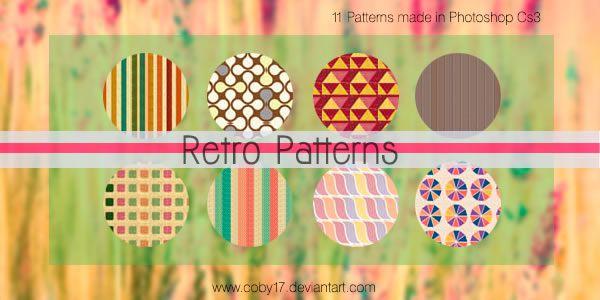 Retro free 11 Photoshop Patterns