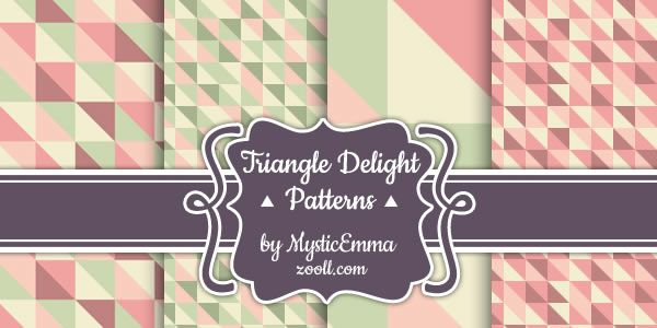 Triangle Delight free 4 Photoshop Patterns