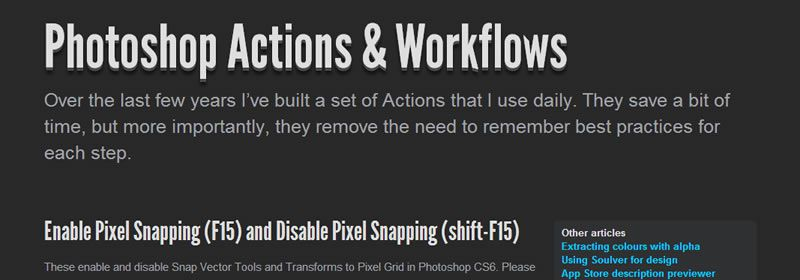 iOS and Android Photoshop Actions
