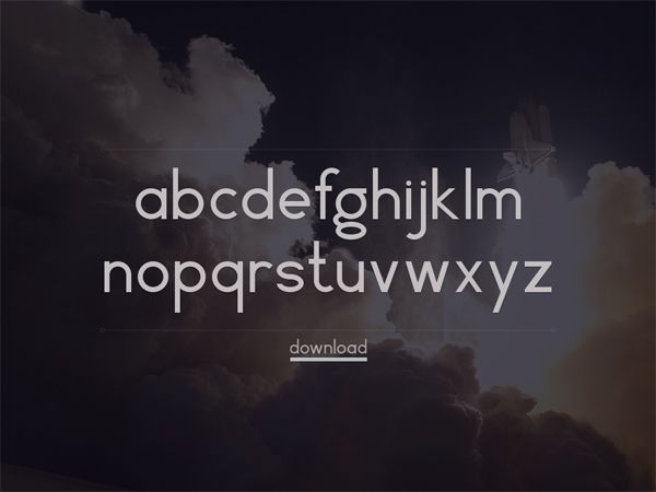 free creative font Vector typeface