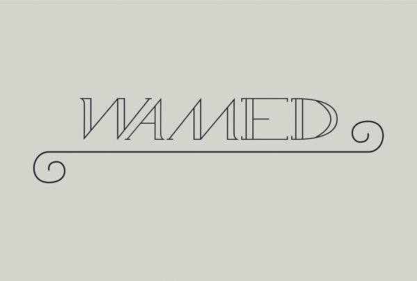 free creative font Wamed typeface