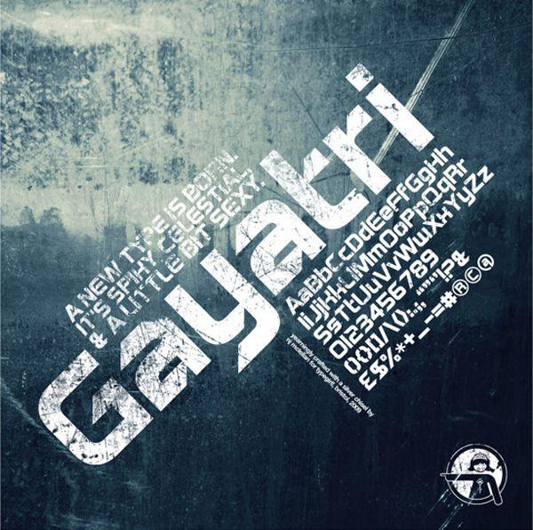 Gayatri Sans Serif free creative font typeface