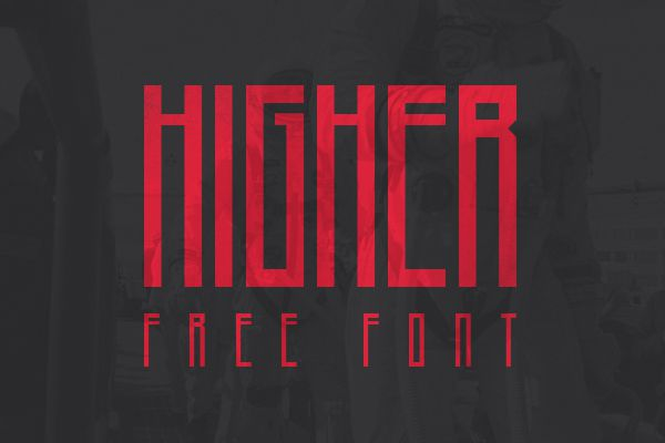 free creative Higher font typeface
