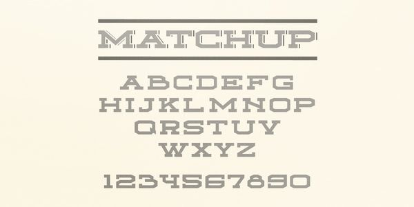 free quirky font typeface Matchup