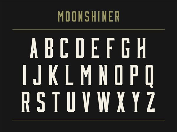 free creative font typeface Moonshiner
