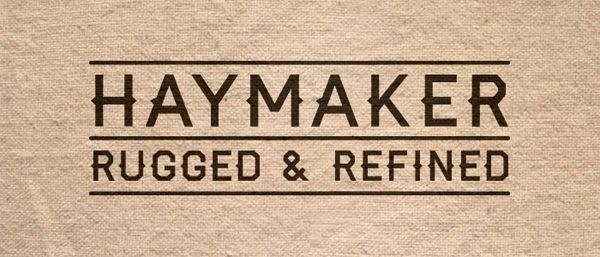 free quirky Haymaker font typeface