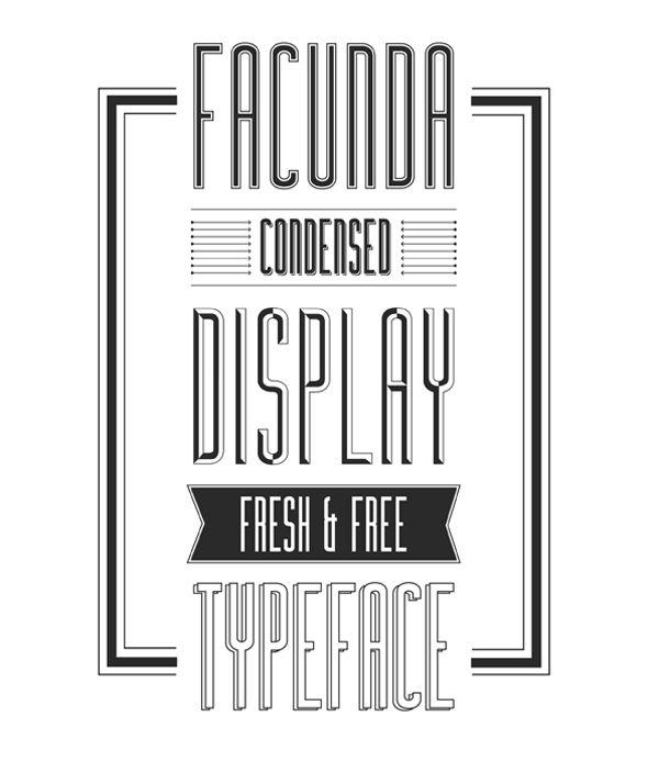 free Facunda creative font typeface