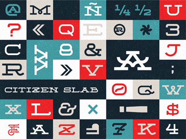 free quirky font typeface Citizen Slab