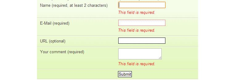 jQuery Validation drop-in jquery plugin clientside form validation very easy