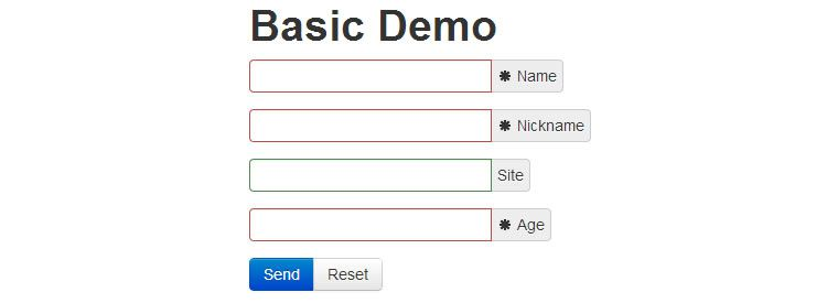 jQuery Validate jQuery plugin helps accomplish easy quick form validation using data attributes
