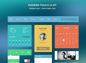 Freebie: Modern Touch UI Kit (Photoshop PSD)
