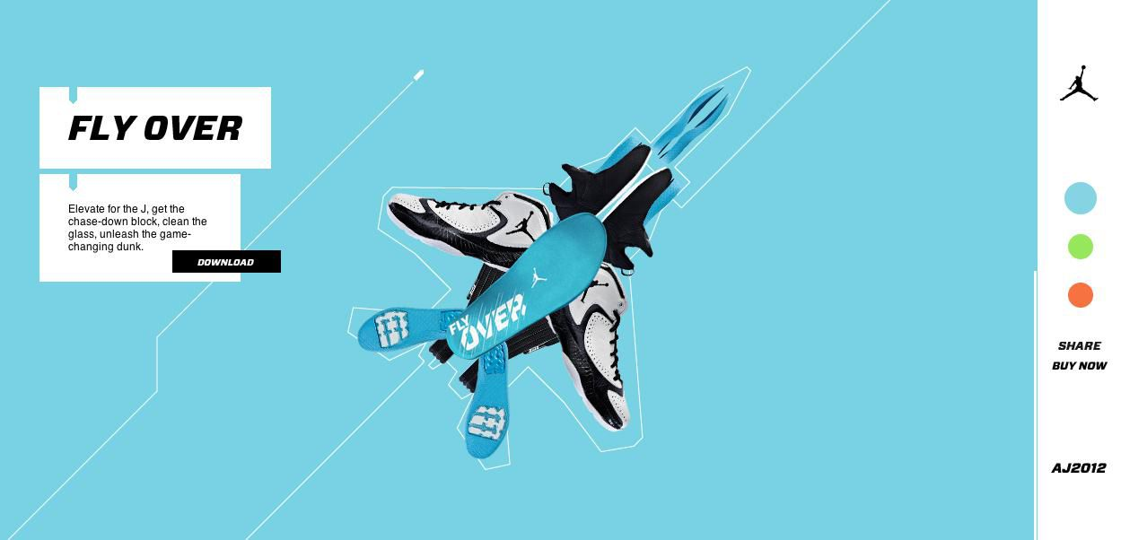 Nike photo illustration style web site