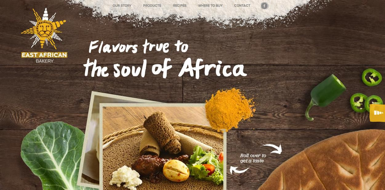 hyper-realistic site design from East African Bakery