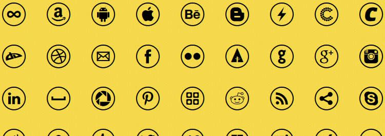 Rondo webfont social media icon sets