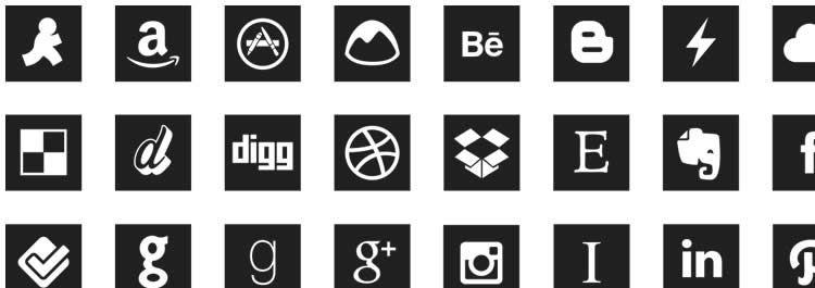 webfont social free icons media