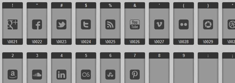 dark webfont social media icon sets